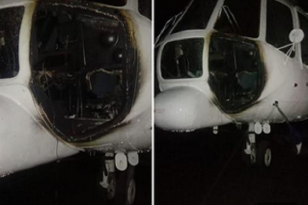 Breaking News OPM Bakar Helikopter Sipil di Bandara Ilaga Papua