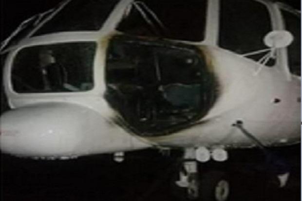 Heli yang Dibakar OPM di Ilaga Ternyata Pernah Mendarat Darurat di Lapangan Sepak Bola Nimbokrang