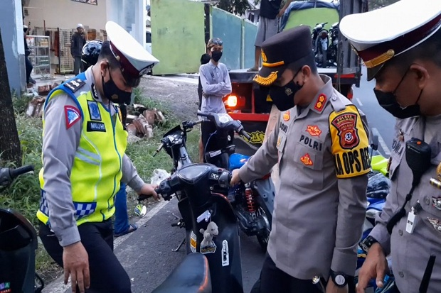 Polisi Amankan 200 Motor dari Balap Liar saat Ngabuburit