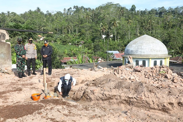 Rumah Sementara untuk Korban Bencana Gempa Malang Mulai Dibangun