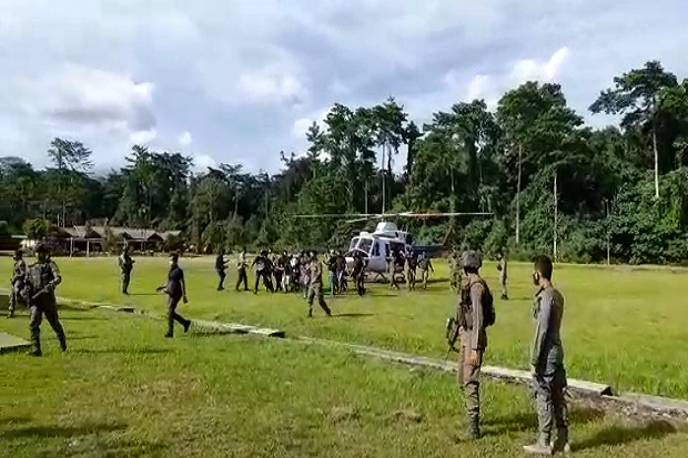 Pukul Mundur Kelompok Lekagak Telenggen 1,6 Km, Pasukan TNI Polri Tembak 5 Anggota OPM
