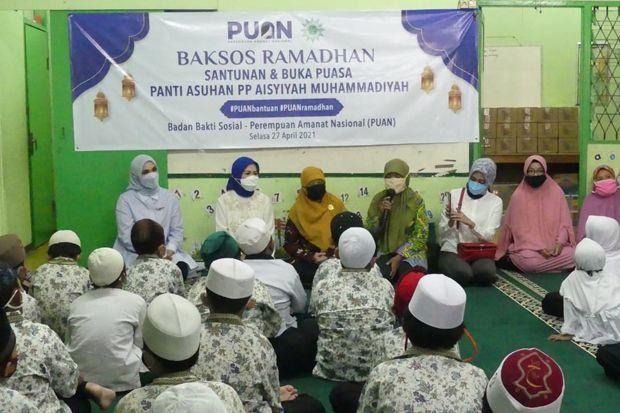 Berkah Ramadhan, PUAN Berbagi Santunan ke Anak Yatim dan Lansia