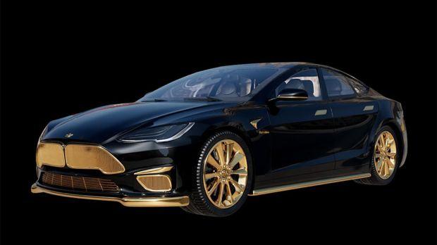 Dilapisi Emas 24 Karat Murni, Ini Tesla Paling Mahal di Dunia