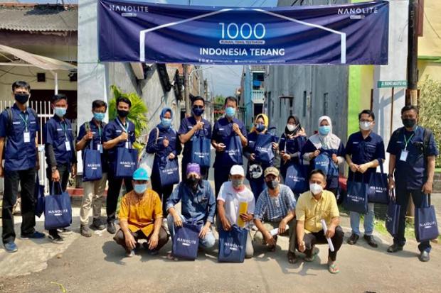 Gerakan 1000+ Rumah Gunakan Lampu Hemat Energi Sasar Warga Bandung