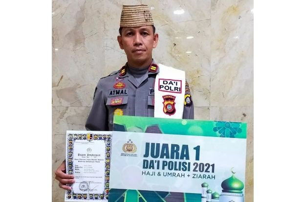 Iptu M. Atmal Fauzi Raih Juara Satu Da'i Polisi se-Indonesia