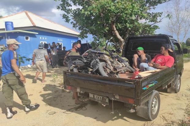 Personel Gabungan Amankan 2 Penambang Timah ilegal di Kawasan Hutan Lindung Menumbing