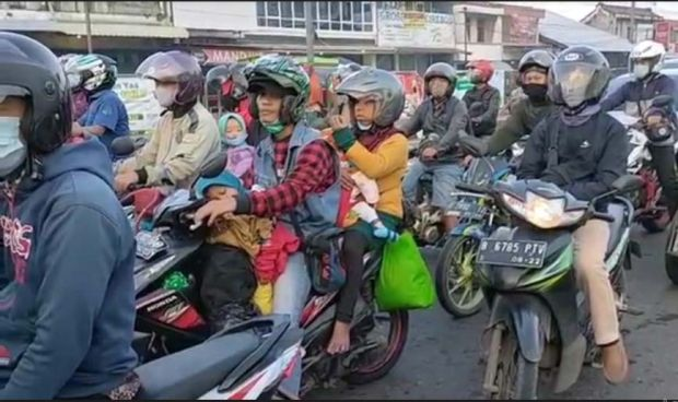Pemudik Motor Ini Lolos Penyekatan dari Jakarta ke Sragen, Ternyata Jalan Ini yang Dilalui