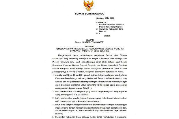 Bone Bolango Putuskan Seluruh Aktivitas di Obyek Wisata Dihentikan