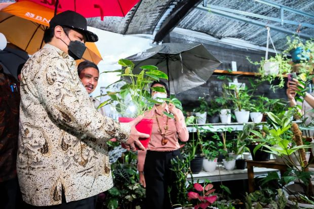 Lepas Ekspor, Airlangga Hartarto: Tingkatkan Ekspor Florikultura, Penuhi Ceruk Pasar Dunia