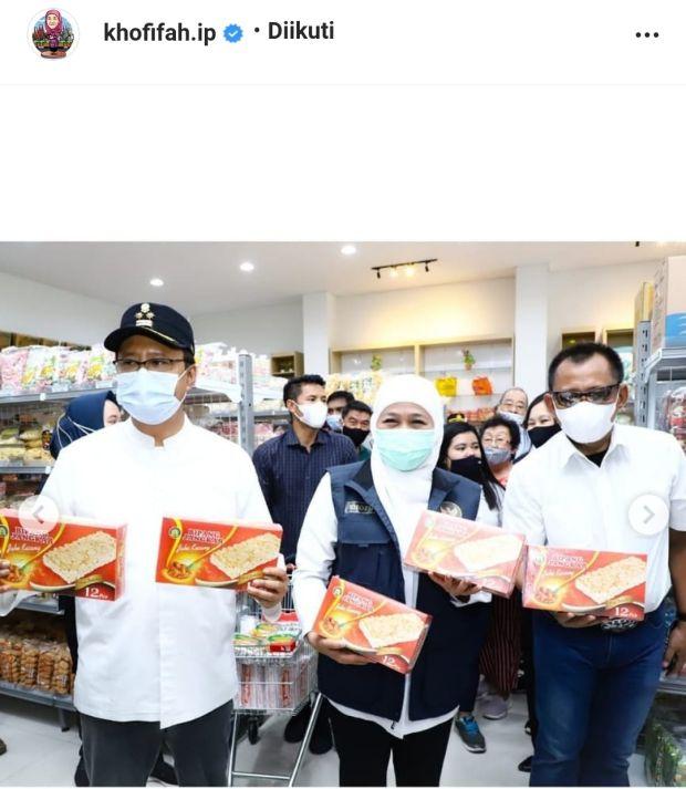 Netizen Heboh Bipang Ambawang, Gubernur Khofifah Endorse Bipang Jangkar
