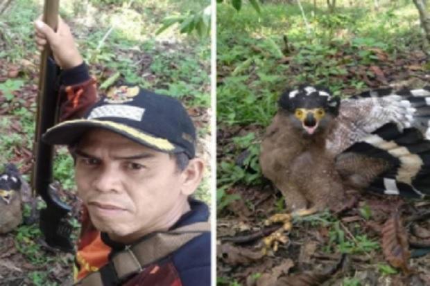 Pose dengan Foto Burung yang Ditembak, Kades di Bengkulu Utara Tuai Cibiran