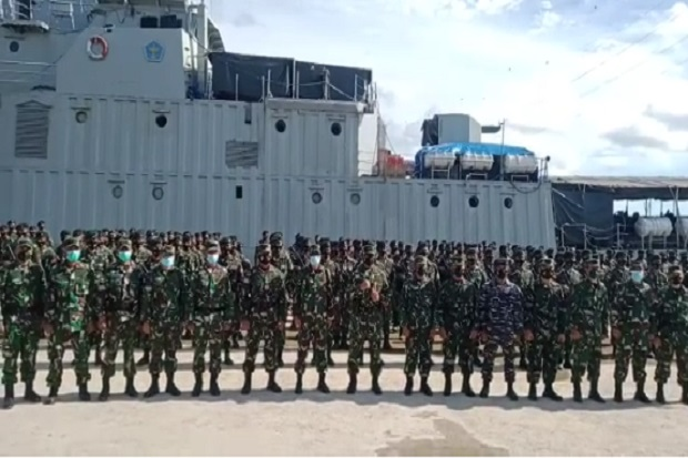Dilepas Pangkogabwilhan III, Yonif R 900/SBW Kodam IX/Udayana Akhiri Penugasan di Papua