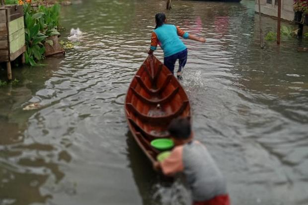 Banjir dan Longsor Terjang Tapsel, Ratusan Rumah Terendam