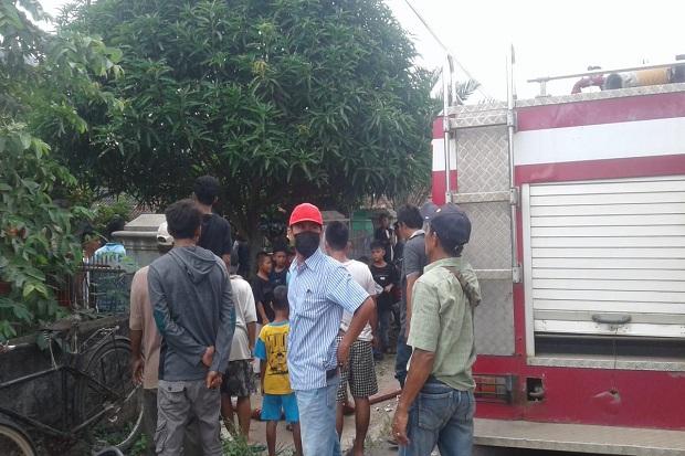 Korsleting Listrik, Rumah di Kotabumi Lampung Terbakar