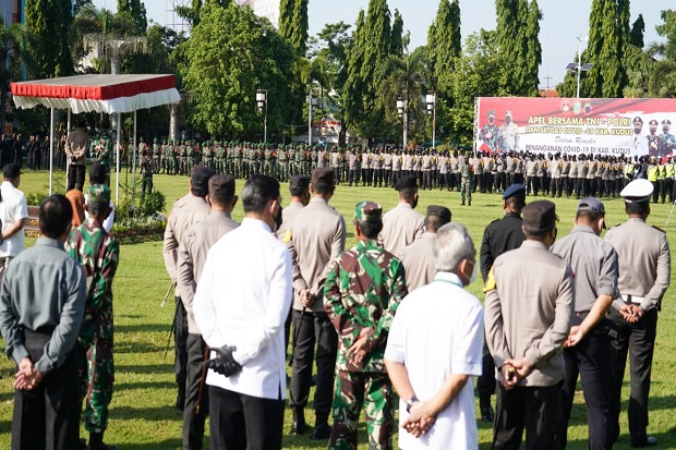 COVID-19 di Kudus Menggila, 1 SSK Pasukan Brimob Bersiaga di 6 Desa