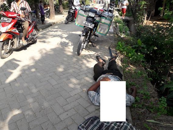 Rembang Gempar, Penjual Bubur Keliling Mendadak Tewas di Jalan
