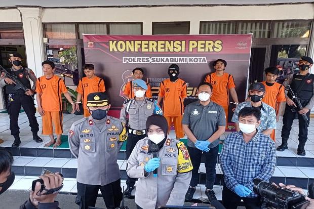 Polres Sukabumi Kota Bekuk 6 Anggota Geng Motor Pelaku Penganiayaan di Warudoyong