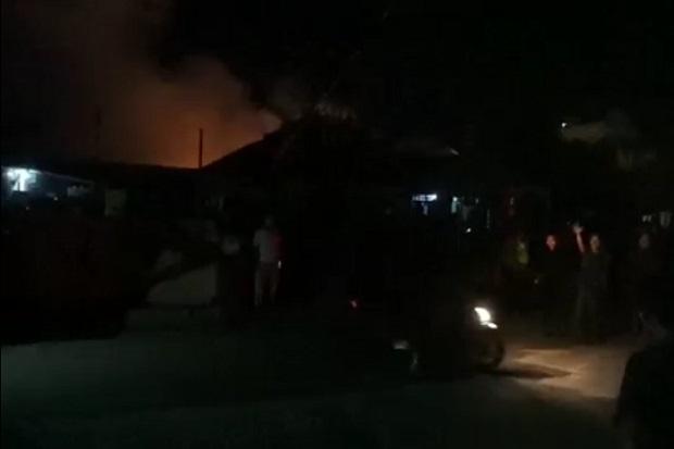 120 Toko di Pasar Tradisional Kota Pinang Hangus Terbakar, Kerugian Rp5 M