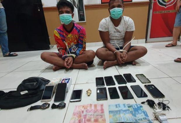Bobol Rumah, Dua Penjahat Jalanan Dibekuk Anggota Polres Beltim