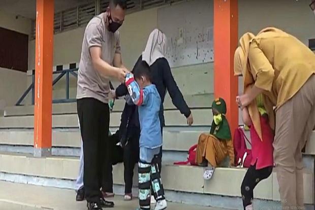Didirikan Yayasan Tumbuh Kembang Anak, Aiptu Hadi Sutomo Diapresiasi Lemkapi