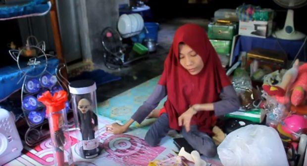 Viral, Wanita Penyandang Disabilitas Ini Bikin Boneka Mirip Deddy Corbuzier