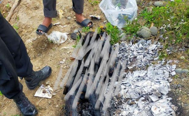 Maros Gempar, Pria Tanpa Identitas Ditemukan Gosong, Diduga Dibakar