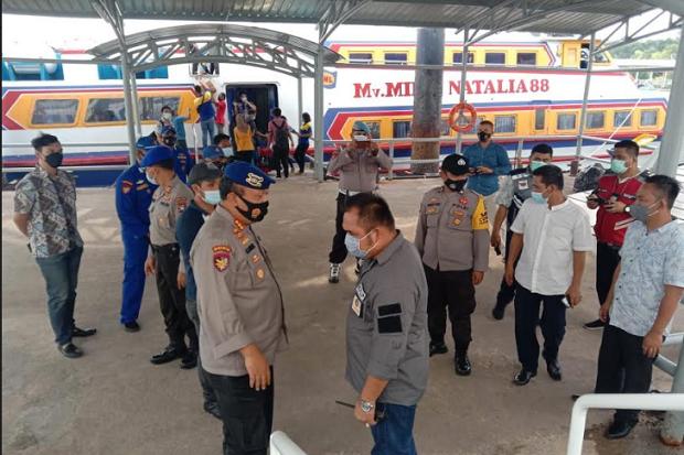 Polsek KKP Batam Perketat Protokol Kesehatan di Pelabuhan