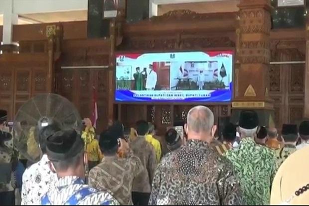 Positif COVID-19, Wakil Bupati Tuban Dilantik Gubernur Jatim Dari Rumah