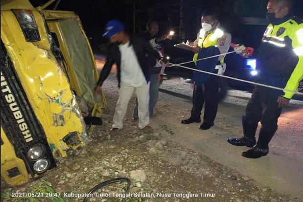 Truk Terguling di Kabupaten TTS, 3 Tewas 16 Luka-luka