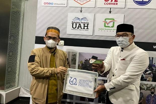 Ridwan Kamil Bertemu Ustaz Adi Hidayat, Bawa Kabar Baik untuk Pasien COVID-19