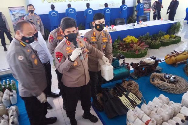 Polisi Bekuk 8 Nelayan Pengguna Bom Ikan di Perairan Sulsel