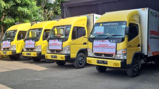 Luxena Victory Terjunkan 7 Armada Logistiknya Pada Event ACT