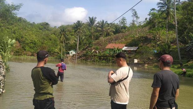 Puluhan Rumah Warga di Pangandaran Terendam Banjir