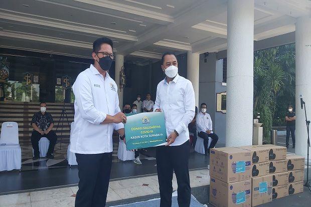 Kadin Surabaya Donasi Ribuan APD hingga Paket Isolasi Mandiri