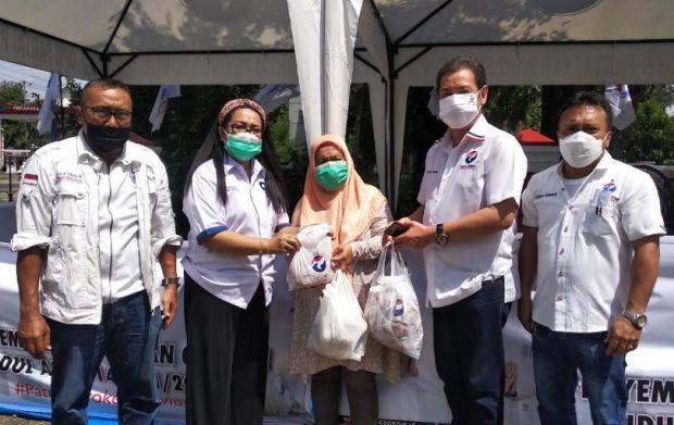 Dapat Daging Kurban dari Perindo, Warga Doakan Semoga Jadi Pemenang Pemilu