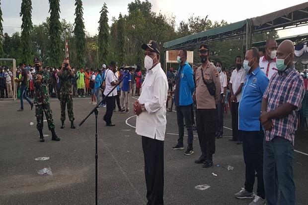 Bupati Jayapura Buka Pertandingan Futsal dan Voli HUT KNPI ke-48