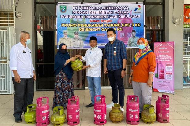 ASN di Pangkep Tukar Tabung Gas 3 Kg dengan Bright Gas