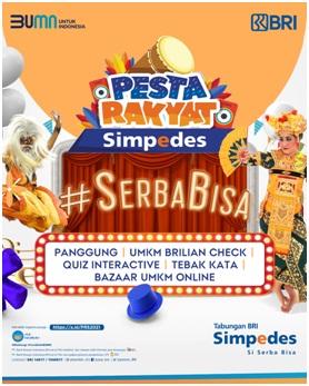 Bangkitkan UMKM Indonesia, BRI Kembali Gelar Pesta Rakyat Simpedes