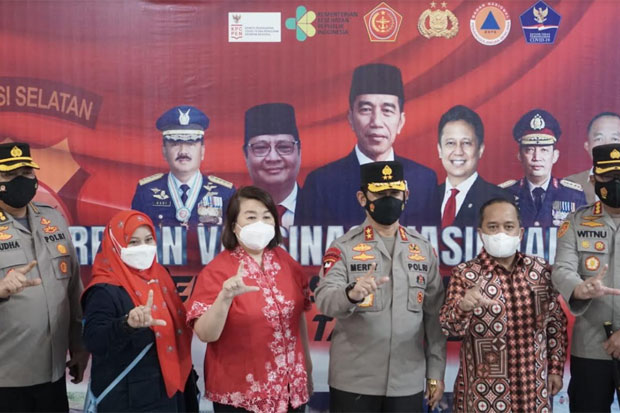 PHRI, IHGMA dan YABBM Fasilitasi Serbuan Vaksin Polrestabes Makassar