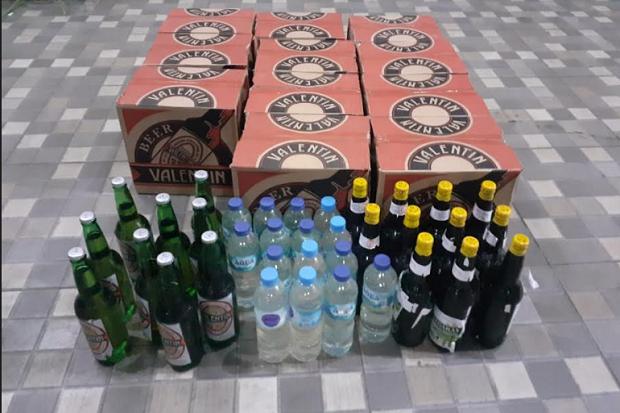 Team Macan Polresta Manado Amankan Puluhan Botol Minuman Keras