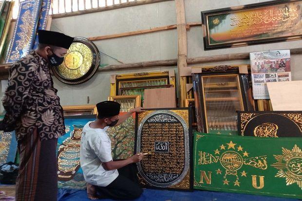 Demi Syiar Islam, Kaligrafi Mujtahid Al Fatah Bertahan di Tengah Pandemi COVID-19