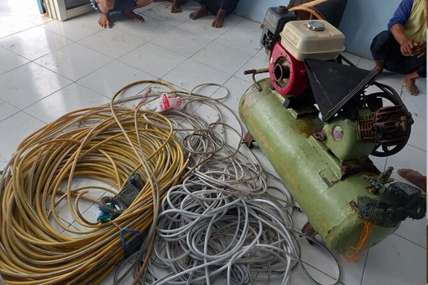 Tujuh Nelayan Pelaku Pengeboman Ikan di Perairan Takalar Diamankan