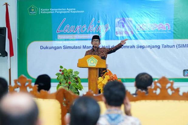 Kemenag Kabupaten Pangkep Luncurkan Aplikasi SIMPAN