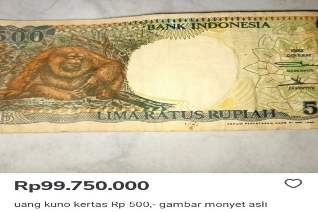 Uang Jadul Gambar Orang Utan Diburu, Ada yang Jual Nyaris Rp100 Juta