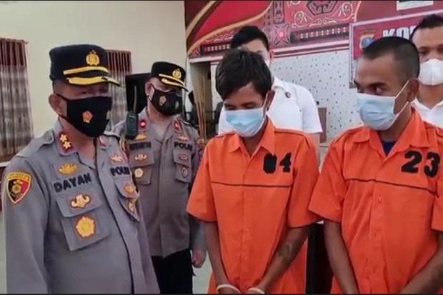 Tertangkap! 2 Pria Ini Nekat Gasak Tiang Besi Telkom di Kawasan Industri Medan