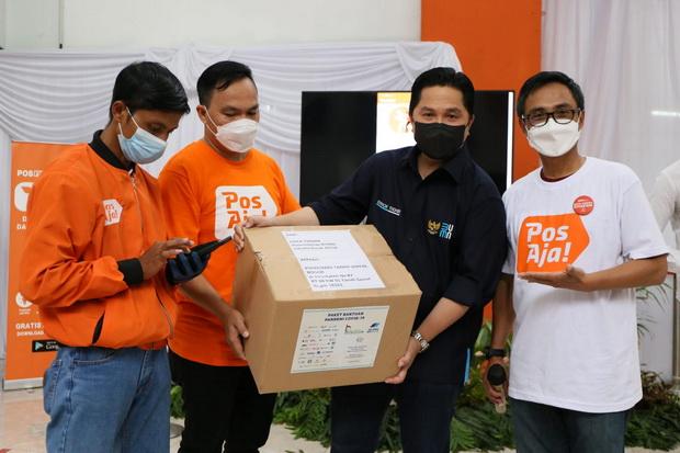 Erick Thohir Jajal Platform Digital Kurir, Pos Indonesia Diminta Jadi Pusat Distribusi Nasional