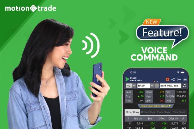 Canggih! Transaksi Saham & Reksa Dana Bisa Pakai Perintah Suara di MotionTrade, Ini Caranya!