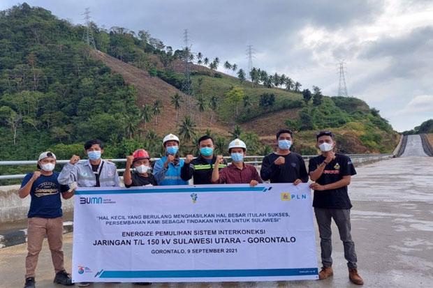 Sistem Jaringan Interkoneksi Listrik Sulut-Gorontalo Pulih
