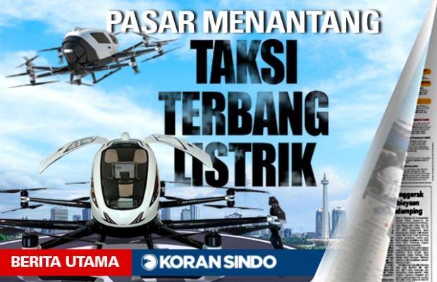 Taksi Terbang Listrik Hadir, Sandiaga Sebut Indonesia Pasar Potensial
