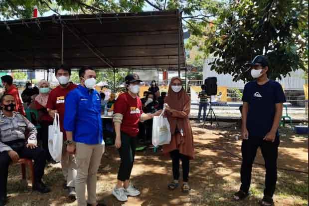 Kolaborasi Vaksinasi KNPI dengan EPFM, Warga Bisa Bawa Pulang Hadiah